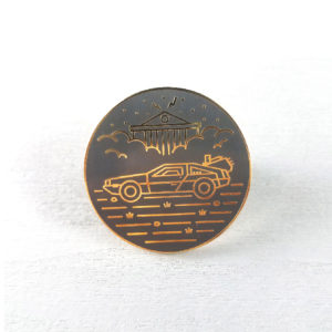 Back In Time DeLorean Enamel Pin