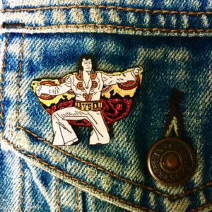 Elvis - Mothra Kaiju Enamel Pin