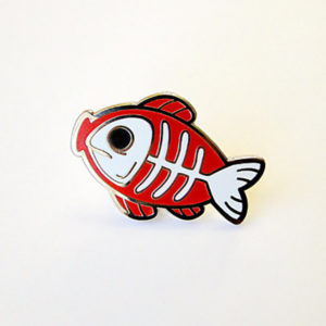 Fishbone Enamel Pin