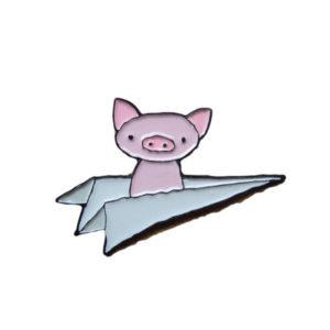 Flying Pig Enamel Pin