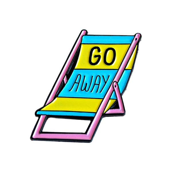 Go Away Enamel Pin