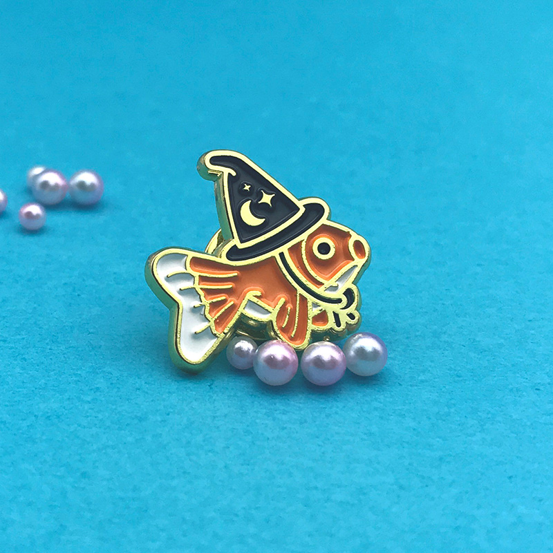 Goldfish Wizard Enamel Pin