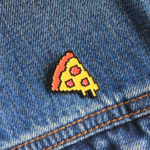 Pixel Pizza Enamel Pin
