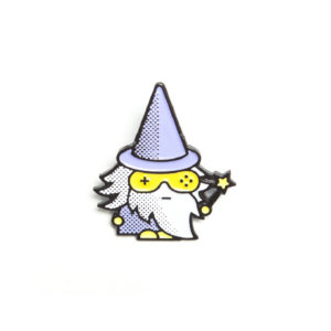 Pop Art DnD Wizard Enamel Pin