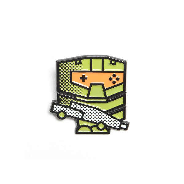 Pop Art Halo Masterchief Enamel Pin