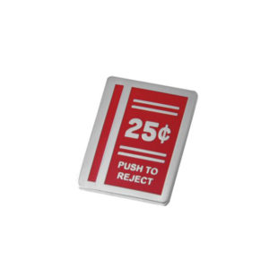 Push to Reject Enamel Pin