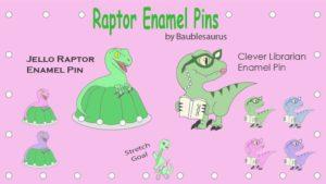 Raptor Enamel Pins