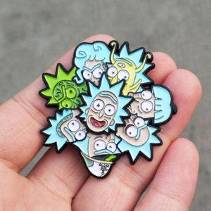 Rick vs The Rickstaverse Enamel Pin