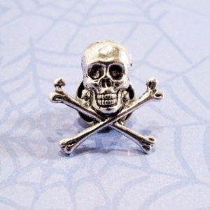 Skull and Crossbones Die Cast Pin