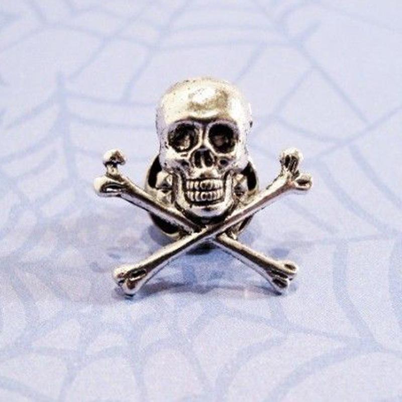 Skull and Crossbones Die Cast Pin