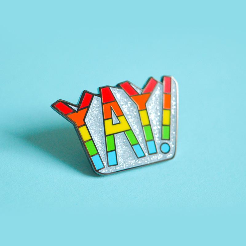 Yay! Rainbow Enamel Pin