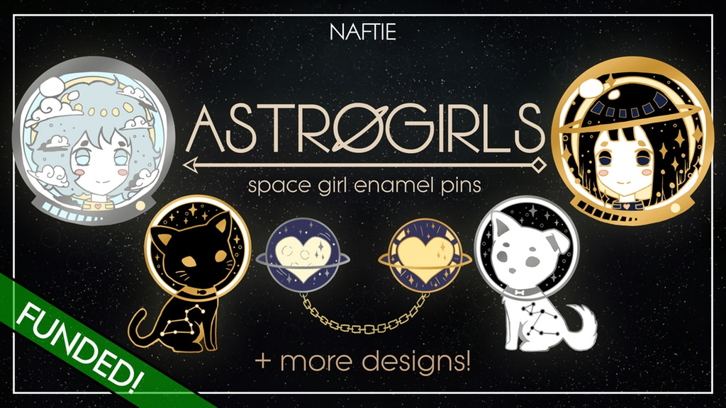 Astrogirls Enamel Pin Series