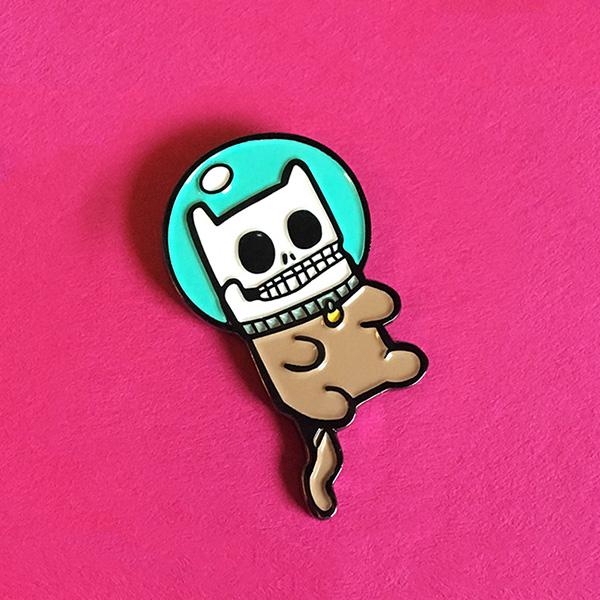 Cosmic Cat Corpse Enamel Pin