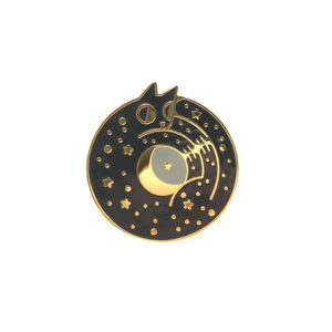 Cosmic Cat Enamel Pin