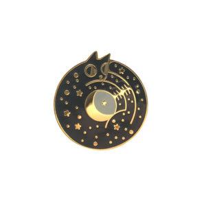 Cosmic Cat Enamel Pin