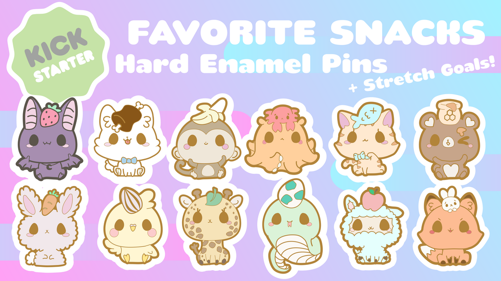 Favorite Snacks Hard Enamel Pins