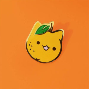 Orange Cat Enamel Pin