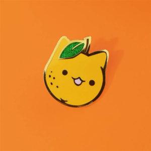 Orange Cat Enamel Pin