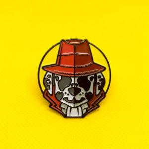 Rorschach/Marshall Enamel Pin