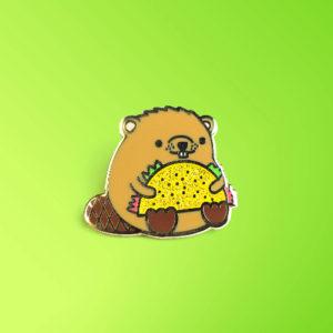 Taco Beaver Enamel Pin