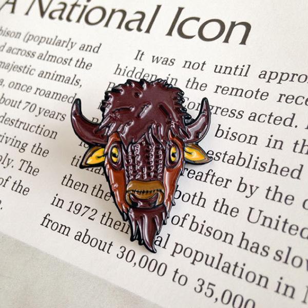 American Bison Enamel Pin