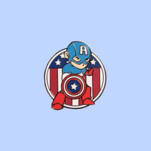 Captain American Enamel Pin