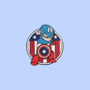 Captain American Enamel Pin