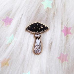 Cosmic Mushroom Enamel Pin