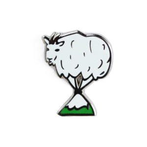 Mountain Goat Enamel Pin