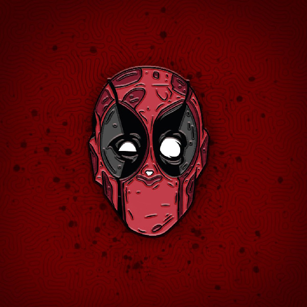 Removable Mask Deadpool Enamel Pin