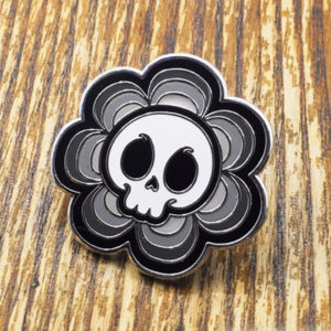 Skull Flower Enamel Pin