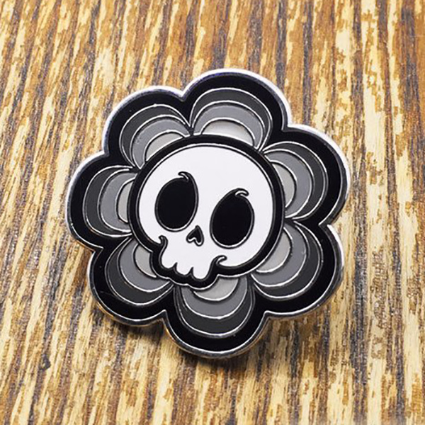 Skull Flower Enamel Pin