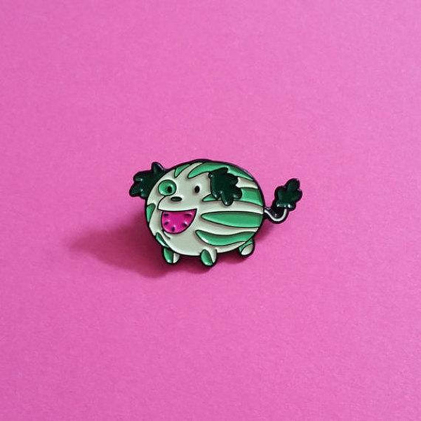 Watermelon Pup Enamel Pin