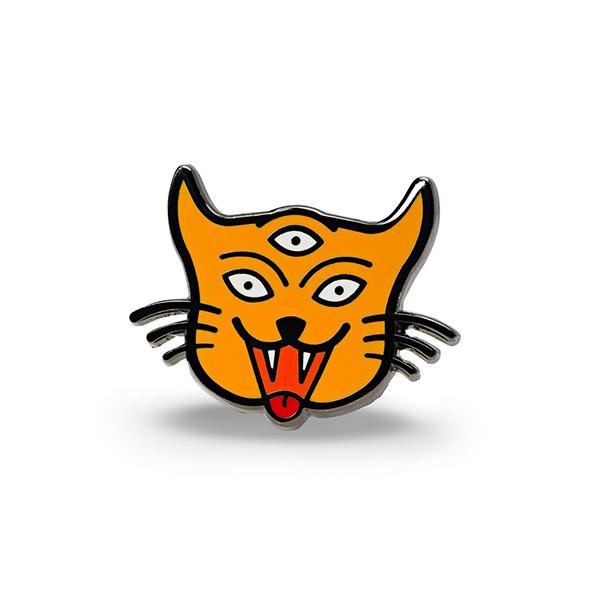3 Eyed Cat Enamel Pin
