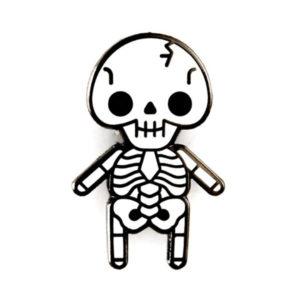 Skeleton Baby Enamel Pin
