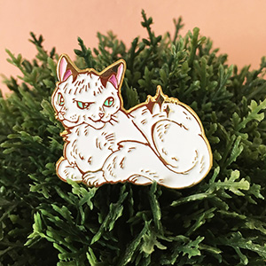 Janus Kitty Enamel Pin